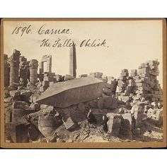 Carnac. The Fallen Obelisk (Photograph)     Date: 1850s to 1870s (photographed)     Place: Karnak     Artist/maker: Francis Frith