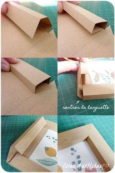 Cadre en papier, tutoriel Coeur d'artichaut©