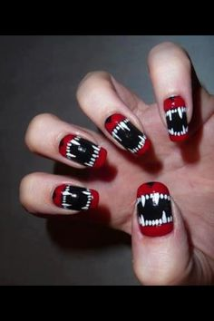 A great idea for helloween nails