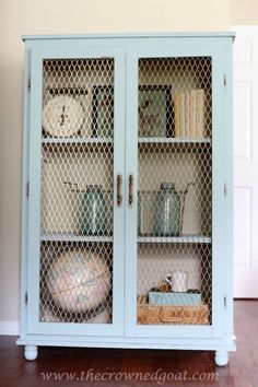 Duck Egg and Country Grey Painted Cabinet