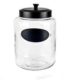 Look what I found on #zulily! 176-Oz. Round Black-Lid Glass Jar by Housewares International #zulilyfinds