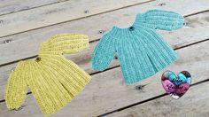 Brassière à rangs raccourcis crochet très facile 1/2 / Jacket all sizes ...