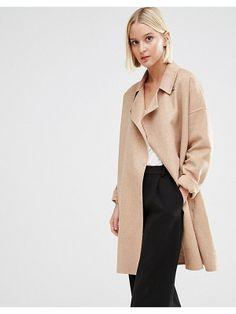 8857dee53a Selected Kaia throw on wool coat Oversized Coat