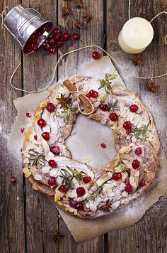 Christmas Wreath (recipe) ❥