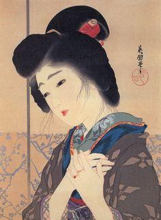 Hirezaki Eihou (鰭崎英朋 1881-1968) - 誓 1915