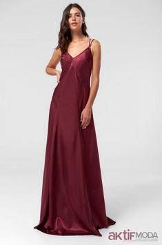 fbadbbb631dc2 Mor Saten Elbise Kombinleri 2019. Saten Elbise Modelleri 2019 - Saten Elbise  Kombinleri - Aktif Moda