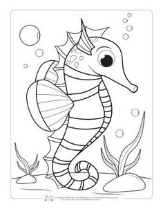 Ocean Animals Coloring Pages for Kids – Itsy Bitsy Fun Summer Coloring Sheets, Ocean Coloring Pages, Farm Animal Coloring Pages, Fish Coloring Page, Coloring Pages For Boys, Flower Coloring Pages, Free Printable Coloring Pages, Coloring Book Pages, Coloring Pictures For Kids