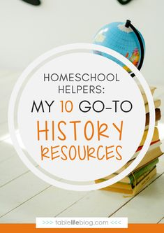 Homeschool history if probably my favorite subject to teach. Part of that is because of the subject itself, but part of it is due to these great resources. Homeschool Curriculum Reviews, Homeschool High School, Homeschool Kindergarten, Homeschooling Resources, Preschool, History For Kids, Study History, History Classroom, Teaching History