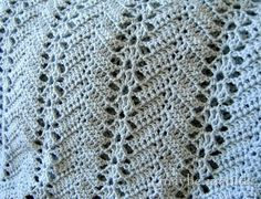 Grandma's Lacy Ripple blanket.  Close up doesn't do justice to this design.  You need to view the whole blanket.  Its a beauty.