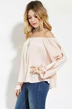 Forever 21 is the authority on fashion & the go-to retailer for the latest trends, styles & the hottest deals. Shop dresses, tops, tees, leggings & more! Shoulder Off, Moda Outfits, Teacher Outfits, Blouse Outfit, Pulls, Forever 21, Summer Outfits, Boho, My Style