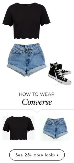 """Simple"" by calismoedyessi on Polyvore featuring Ted Baker, Levi's and Converse"