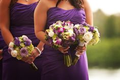 Green and Purple Tampa Wedding by Limelight Photography - KnotsVilla