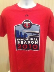 "$15.95 or best offer 2010 Inaugural Season Minnesota Twins shirt.  Width: 20""-21"" Length: 28""-29"" Sleeve: 8""-9"" Size: Medium  100% Cotton.  Made in Honduras  Made By Majestic Very Nice Shirt  #MinnesotaTwins #Majestic #Mauer #SpringTraining #MLB #Ebay"