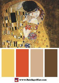 Love & Romance Color Palette: The Kiss, c.1908, Art Print by Gustav Klimt - BandagedEar.com