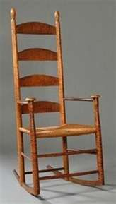 Chapter 15. Shaker Rocking Chair; the simplicity reflects the communitiy's belief in purity and the simple life.