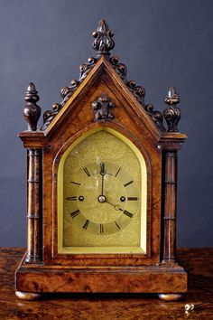 A miniature striking bracket clock. By D. Ross, Exeter. Circa 1840. www.oldetimeantiqueclocks.com