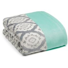 Echo Design™  Monte Carlo Throw ($20) ❤ liked on Polyvore featuring home, bed & bath, bedding, blankets, grey, gray throw, patterned throws, gray blanket, gray bedding and patterned bedding