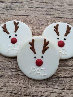 Biscoito Decorado Natal - Rosto Rena