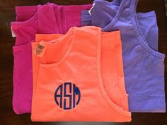 Monogrammed Comfort Color Tank Top by SouthernTouchMono on Etsy, $16.00