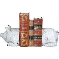 Pig Bookends