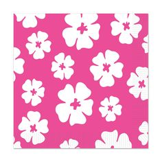 16 ct Hot Pink HIBISCUS Beverage Napkins LUAU Birthday Party Tableware #Beistle