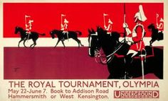 The Royal Tournament, Olympia, by unknown artist, 1924