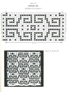 Mosaic Knitting Barbara G. Walker (Lenivii gakkard) Mosaic Knitting Barbara G. Walker (Lenivii gakkard) #98