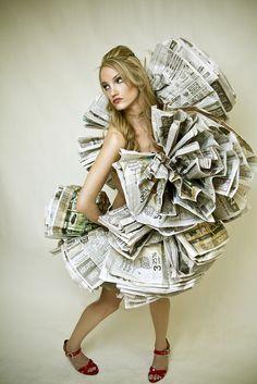 Janelle Rodriguez - Charisse newspaper dress