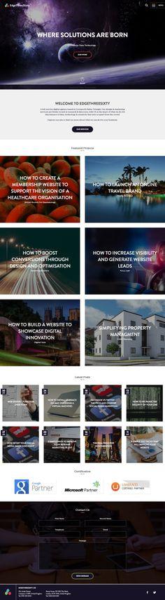 EdgeThreeSixty #WebDesign #Inspiration Best Web Design, Liverpool, Digital Marketing, Inspiration, Biblical Inspiration, Inhalation
