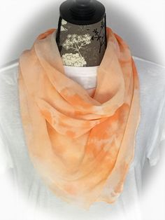 Hand Dyed Silk Chiffon Square