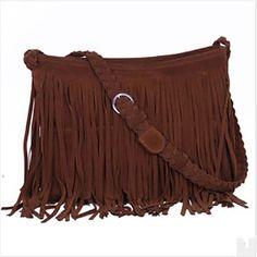 WeaveTassels Simple Crossbody Bag - USD $ 29.39