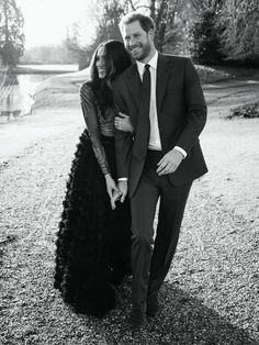 Prince Harry and Meghan Markle's engagement portrait.