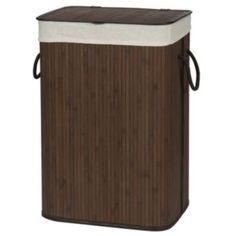Creative Ware Home Folding Bamboo Laundry Hamper