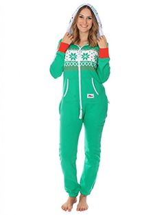 Ugly Christmas Sweater Party - Fair Isle Green Adult Jumpsuit Size M