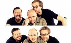 Stephen Merchant, Ricky Gervais, and Karl Pilkington :)
