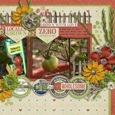 Kits :: Field to Fork Scrapbooking Layouts, Digital Scrapbooking, Cool Watches, Creative Inspiration, Fork, Have Fun, Bloom, Scrapbook Kit, Vegetable Gardening
