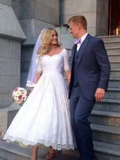 LDS wedding dress made by me! Fabric from Fashionable stitch