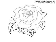 винтажная роза нарисовать - Пошук Google