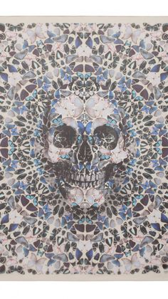 Damien Hirst & Alexander McQueen Collaboration - in fact can be a nice tattoo idea! skull of butterflies maybe a watercolor tattoo