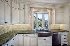 pictures of valance above kitchen window | Valence over window, sink and wall tile