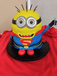 What a cute cake from a Despicable Me party! See more party ideas at CatchMyParty.com!