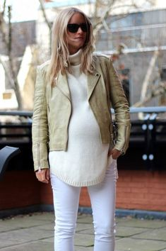 9bd5af7641d75 Think you can t rock some leather leggings because you re preggers