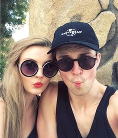 Naomi Smart and Marcus Butler, they are so cute togeter. They are both so healthy