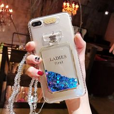Glitter Dynamic Liquid Case For iPhone 7 7Plus Perfume Glass Bottle Quicksand Clear Soft Phone Case Cover For iPhone 6 6S 6Plus #Affiliate