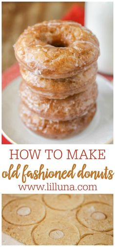 Old fashioned donuts will melt in your mouth. These glazed buttermilk beauties are so easy to make! #oldfashioneddonuts #donuts #glazeddonuts #buttermilkdonuts #dessert Delicious Donuts, Delicious Desserts, Dessert Recipes, Yummy Food, Breakfast Recipes, Keto Desserts, Breakfast Ideas, Donut Recipes, Cooking Recipes