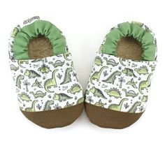 Buy Now dinosaur shoes green dinosaur booties rubber sole shoes...