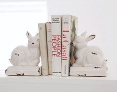 Cottontail bookends