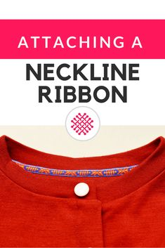 Attaching twill tape to a neckline on a knit top. A sewing tutorial