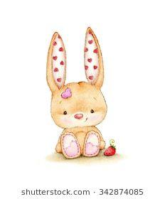 Cute bunny Baby Shower Pictures, Nursery Pictures, Cute Animals Images, Cute Images, Cute Disney Drawings, Cute Drawings, Bunny Drawing, Cute Animal Illustration, Rabbit Art