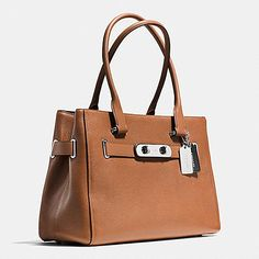 110dc3ea4e Coach Swagger Carryall in Colorblock Pebble Leather Coach Leather Handbags
